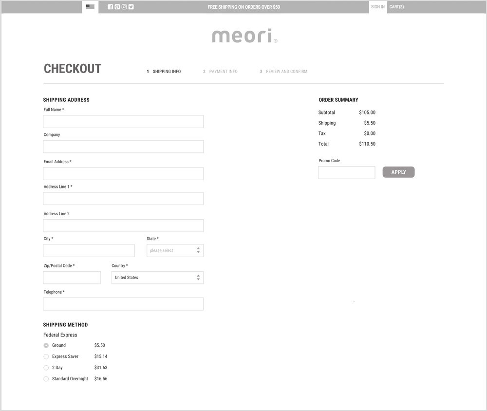 checkout wireframe