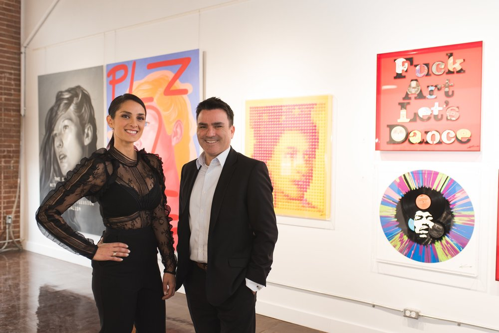Sarah Mashaal et Andres Duran lors de l'ouverture de la galerie au printemps 2017 (photo: Christina Esteban Photography)