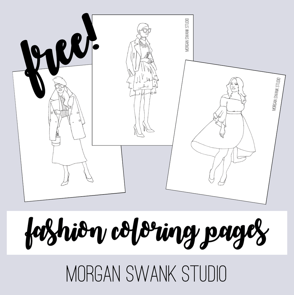 Free Fashion Coloring Pages by Morgan Swank