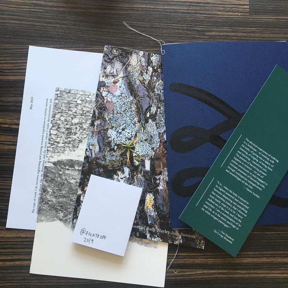 Zolatrope and Hayley Jane Dawson - 'Essential Body' Publication — 16  Nicholson Street
