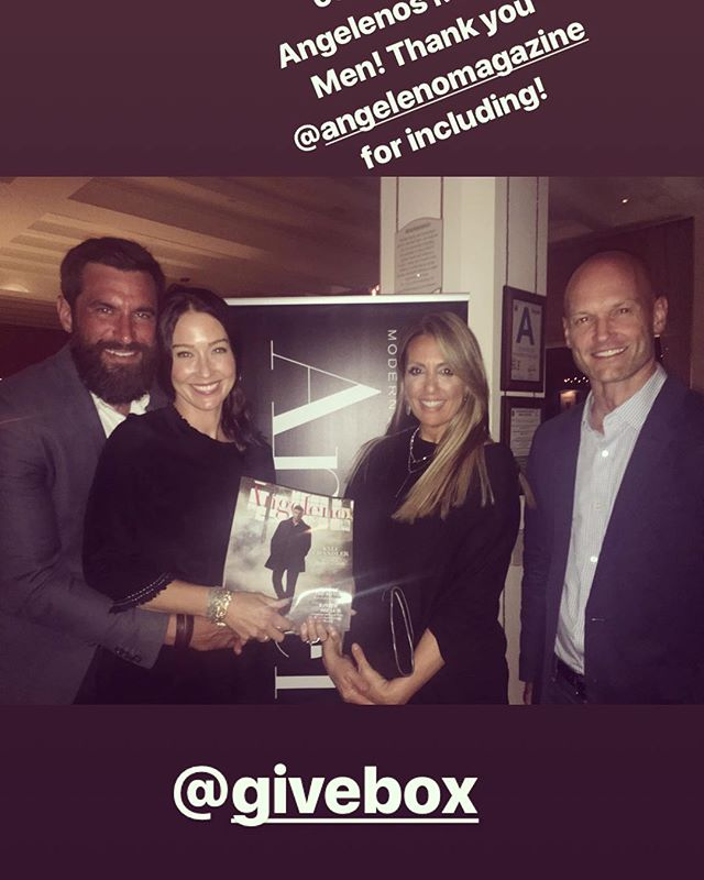 Team @givebox celebrating Modern Men with #AngelenoMagazine grateful to participate along side @rashadjennings