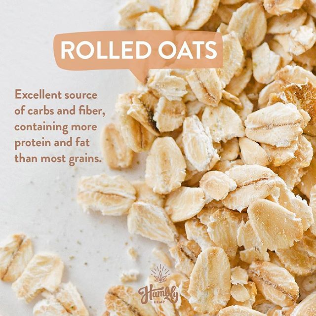 One of the ingredients in our hemp bars is rolled oats 🌱