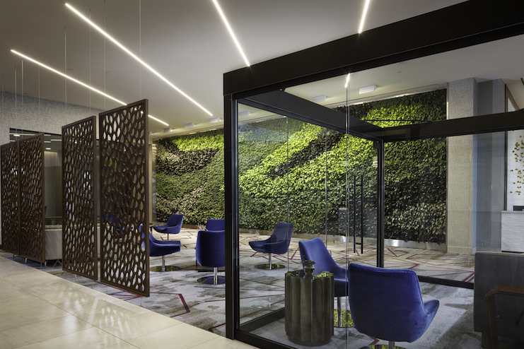 Biophilia in the form of a green wall at the Embassy Suites Amarillo (Photo credit: Robert Benson)