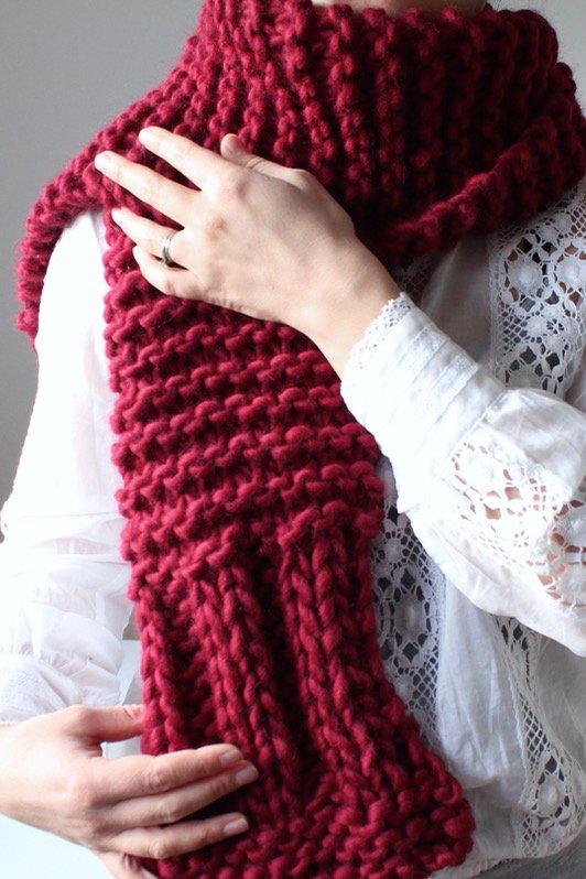 Chunky Knit Scarf/Shawl by Olga Prinku £35