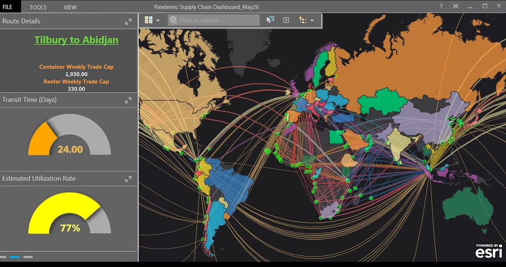Logistics Cluster Ocean Shipment Dashboard