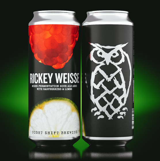 Rickey Weisse   | 4.7% ABV |  Rickey Weisse is a mixed fermentation sour ale aged with raspberries and limes.