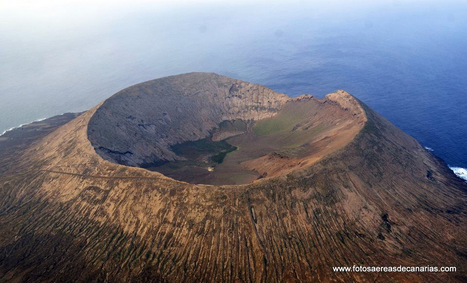 Canary Island volcanic crater.