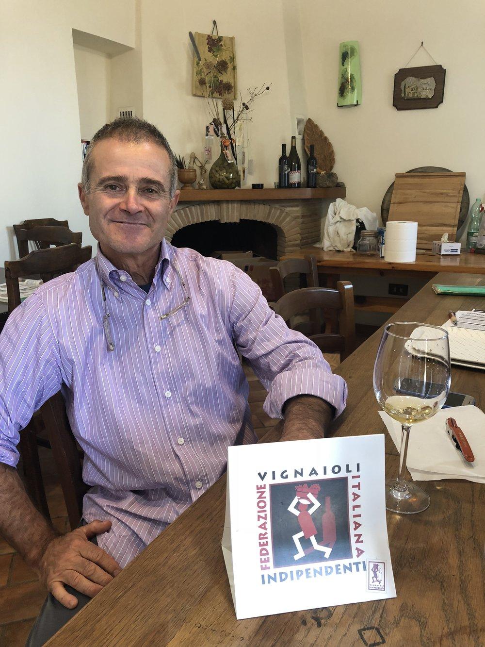 Owner and winemaker, Antonio Cosmi from Casale Certosa