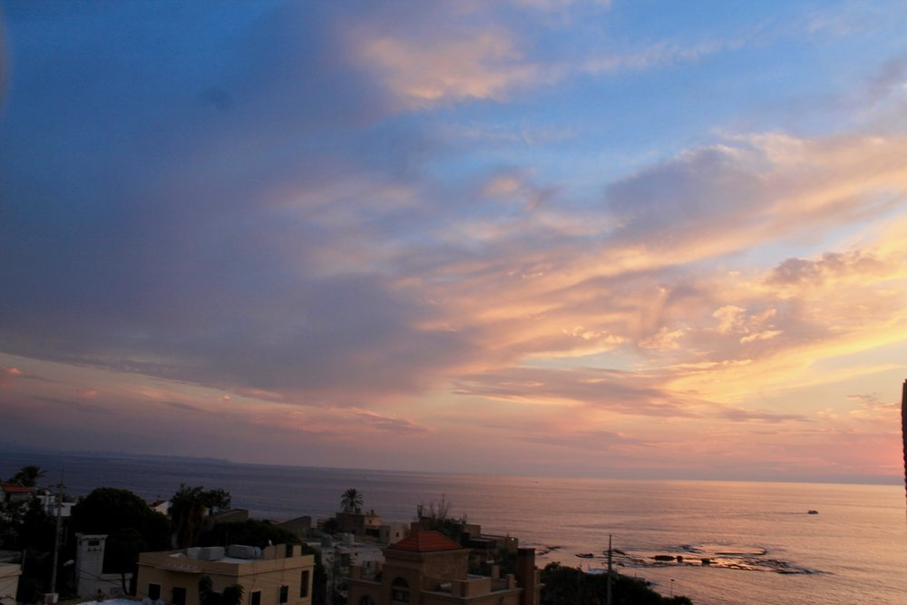 A picture from Susan's vacation to Lebanon this past October. View from a rooftop in Byblos.