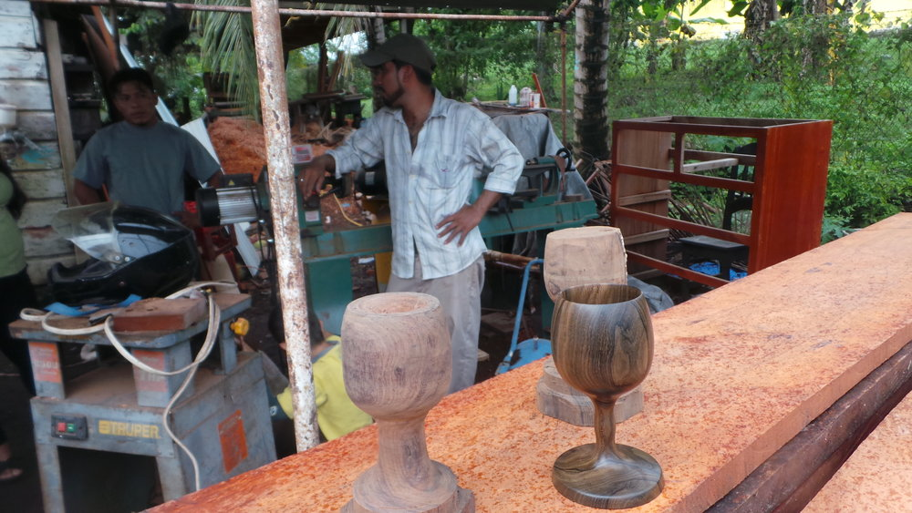 THE TURNERS - Those who practice the art of turning wood on a lathe create beautiful works of art while using the exotic tropical woods.