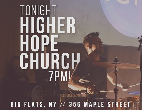 We would love to see ya tonight, 7pm at @higherhopechurch!