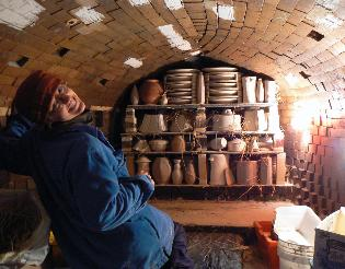 wood firing, wood kiln, pottery kiln