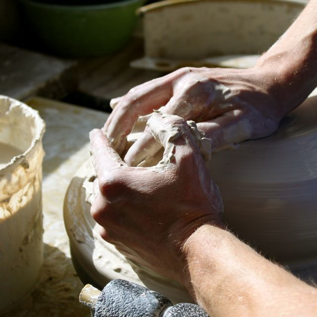 pottery making, potter's wheel