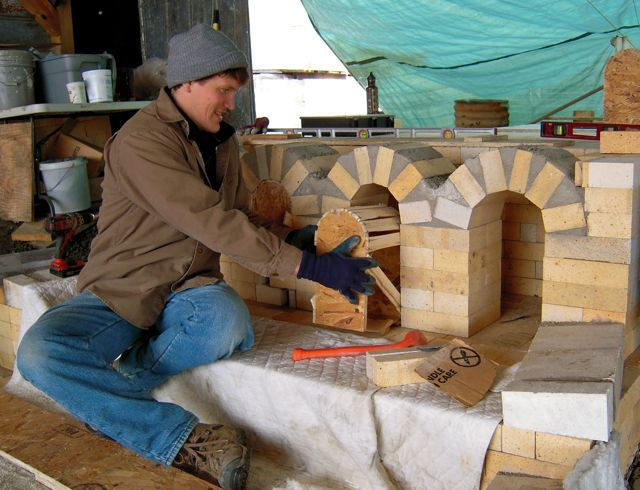 wood kiln building