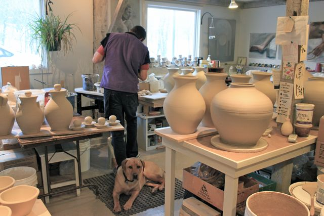 Two Potters, Nathan and Becca pottery