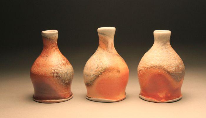 handmade pottery bud vase