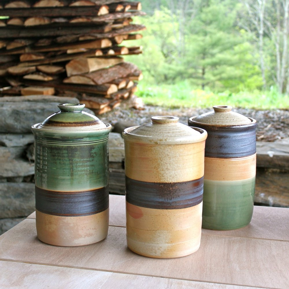canisters, fermenting crocks Two Potters