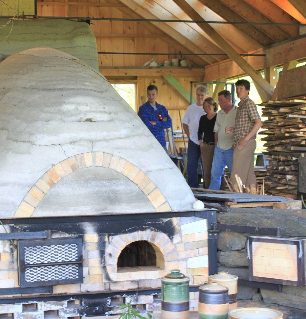 wood kiln at Two Potters Bethel Vermont
