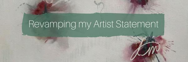revamping artist statement