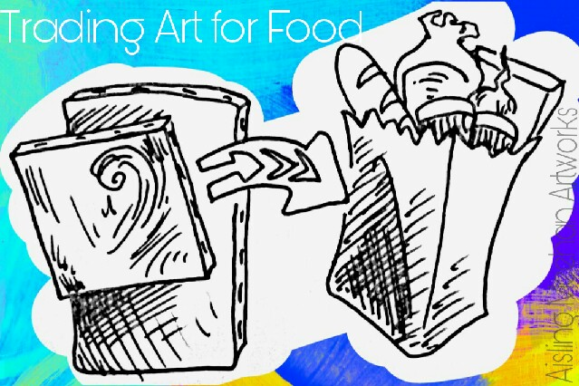 Trading art for food