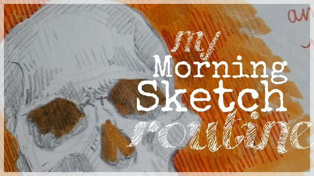 My Morning Sketch Routine Skull