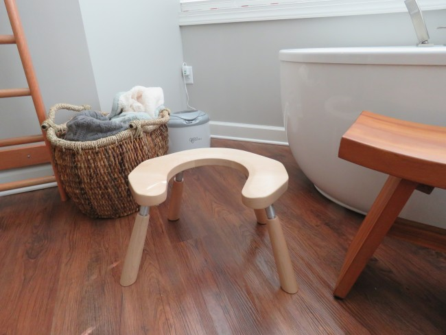 Birth Stool with 12 inch maple wood legs