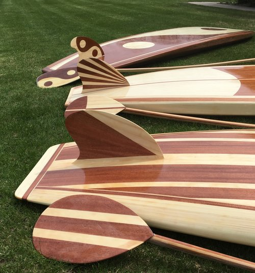 Little Bay Boards - NO TWO ARE ALIKEJust like each coastal town along the Lake Michigan shoreline, no two Little Bay Board custom wood paddleboards are alike. Your Little Bay Board can be custom made to your specifications to enhance your experience on the water.