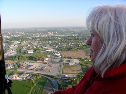 In a hot air balloon for my 50th birthday.