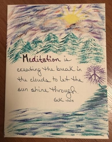 One of the gifts of meditation