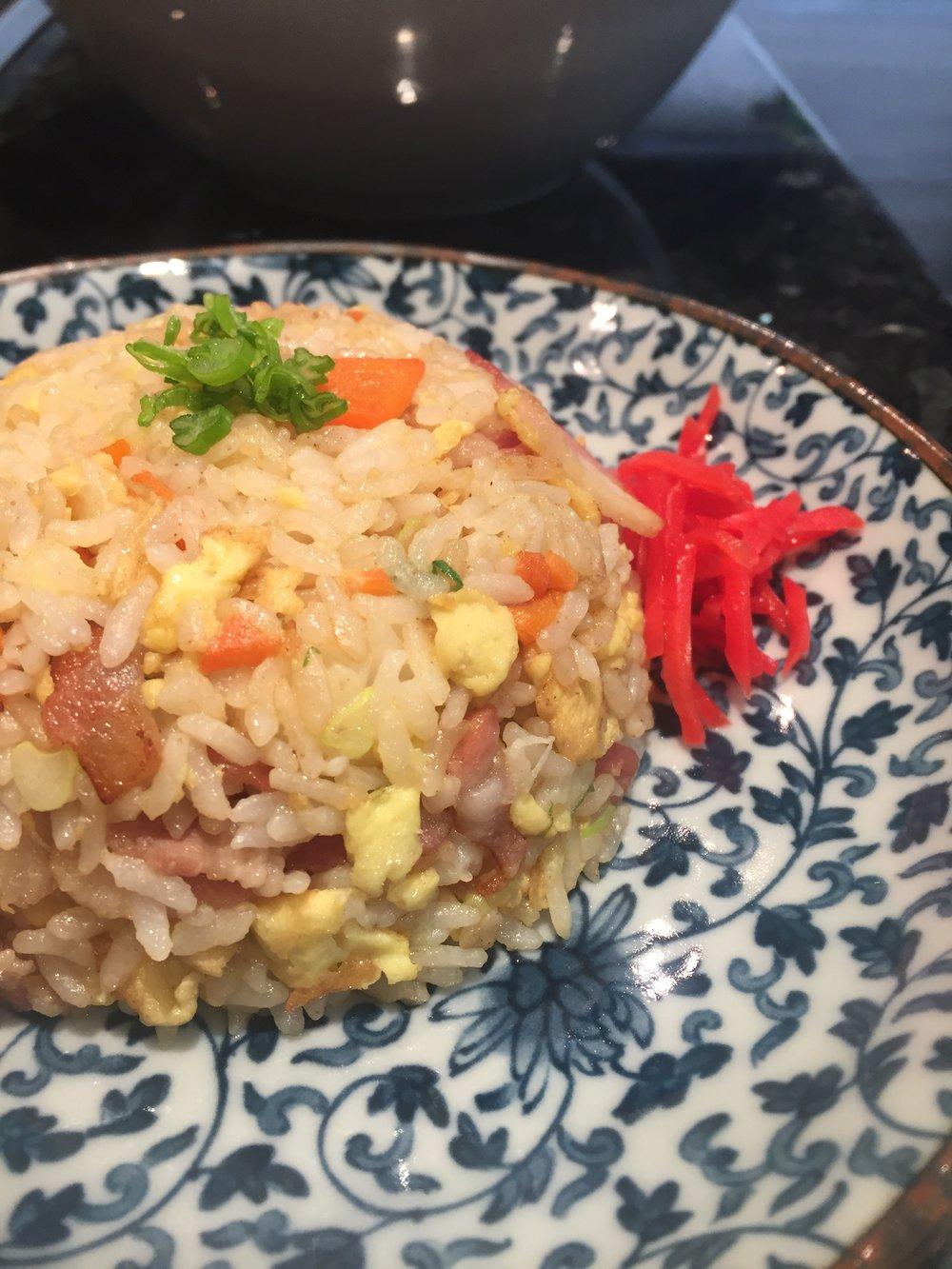 Fried Rice w/ bacon