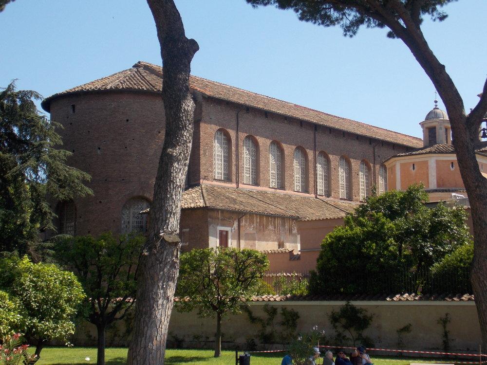 Exterior of Santa Sabina, Rome, built 420s.