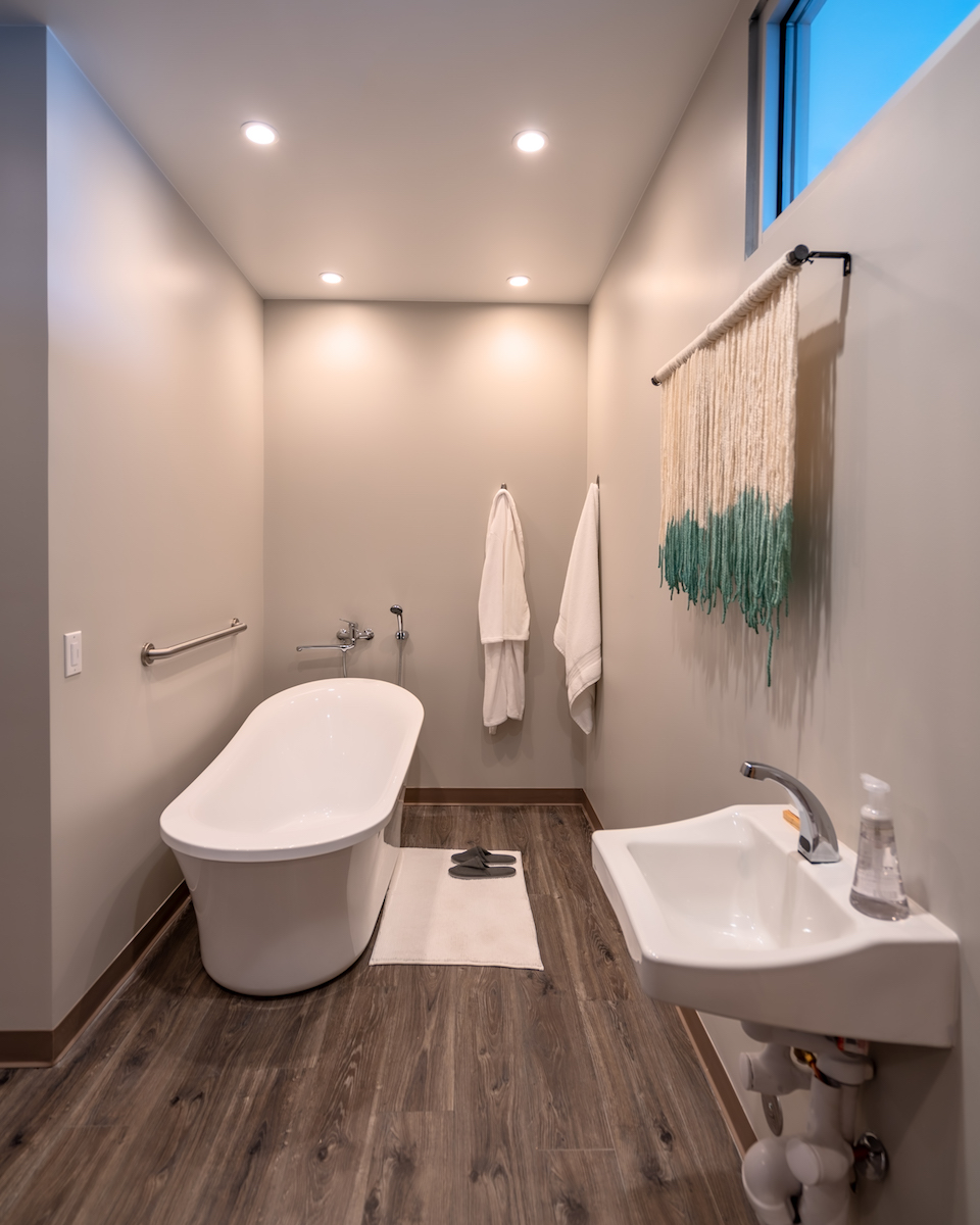 Each Hygge suite is equipped with a birthing tub.