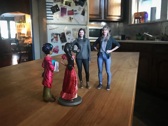Got down to their level to give Fern and Mere some feedback about our west coast tour. They too had some thoughts for us, and were eager to finally chat, wee to wee. All in all we agreed it was a successful trip! #wegot3Dprinted #wepalsnow #minidreamcometrue