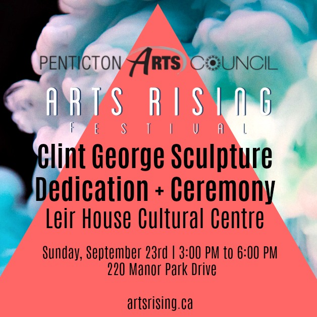 Clint George sculpture dedication + ceremony