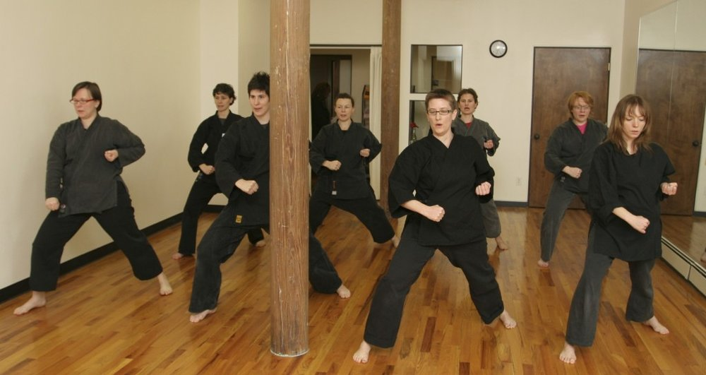 """""""As a survivor of rape, my training in karate and self-defense has helped to restore my voice. Martial arts are a way of connecting mind and body, listening to self and others, finding strength and being empowered. It is through training that I have moved beyond coping and surviving to a deeper sense of integration.""""    – a Brooklyn Goju karate student   Training in the martial arts is a great way to build physical strength and endurance, along with self-confidence, mental focus and discipline. At CAE we see karate as a way of teaching and building peace in the world."""
