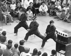 Robin Lane, Annie Ellman & Nadia Telsey: Public Martial Arts Demo, 1978.