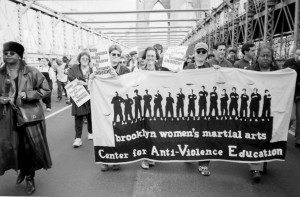 Marching in support of Amadou Diallo
