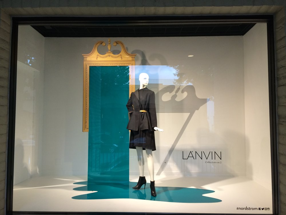 Nordstrom Walnut Creek - Lanvin Window Display