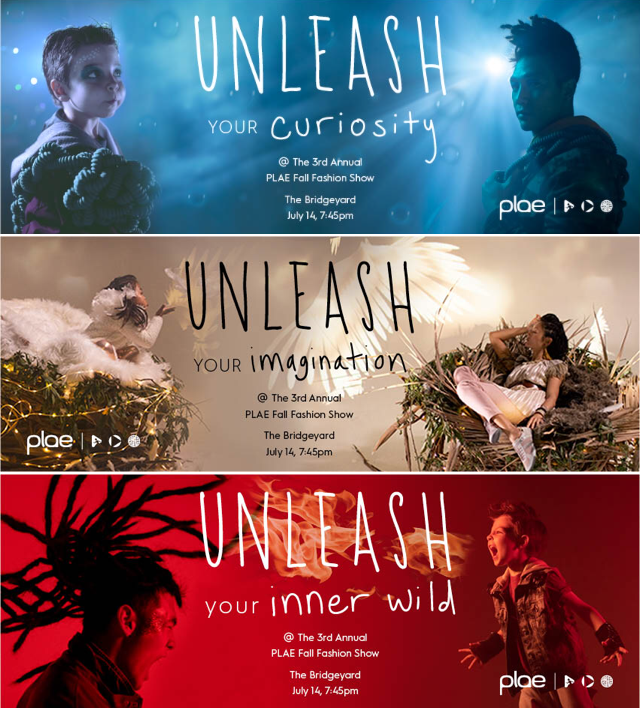 "PLAE ""Unleashed"" Fashion Show social media ad banners"