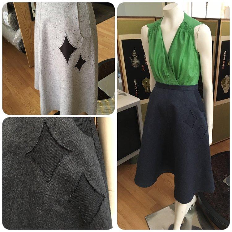 Diamond Star Inset A-line Skirt