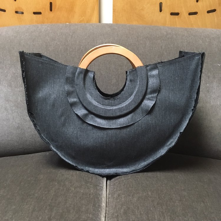 Arc Ruffle Handbag