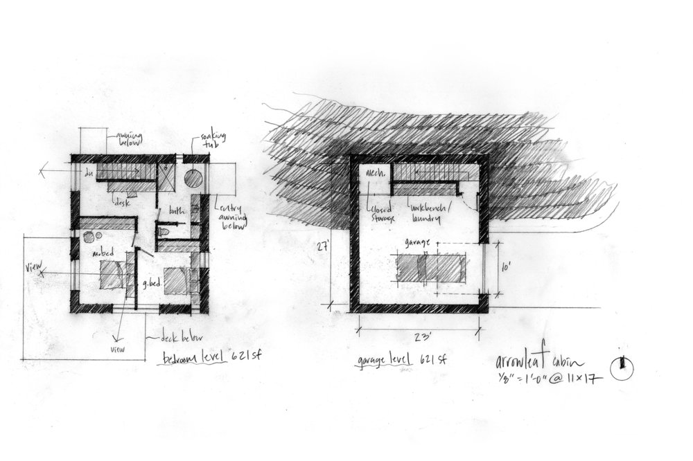 goCstudio_Arrowleaf_garage and bedroom level plans.jpg