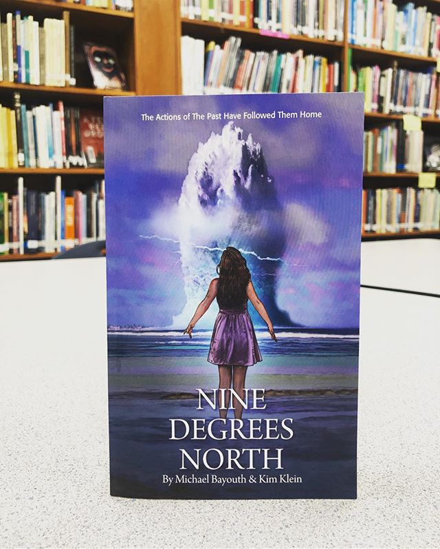 Swing by and check out this new title from @bnfayar - Nine Degrees North - by Michael Bayouth and Kimber Klein is a story about teens stationed with their families in the Marshall Islands on a quest for truth about the history of the islands with the US.