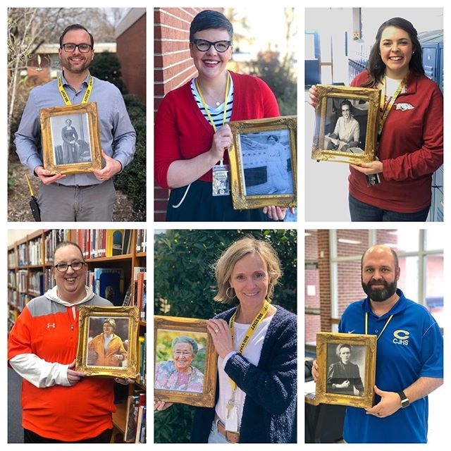 It's International Women's Day! 💛 And our Warrior Staff continue to celebrate extraordinary Women in History. Swing by the library and read about these special women. #thechoice