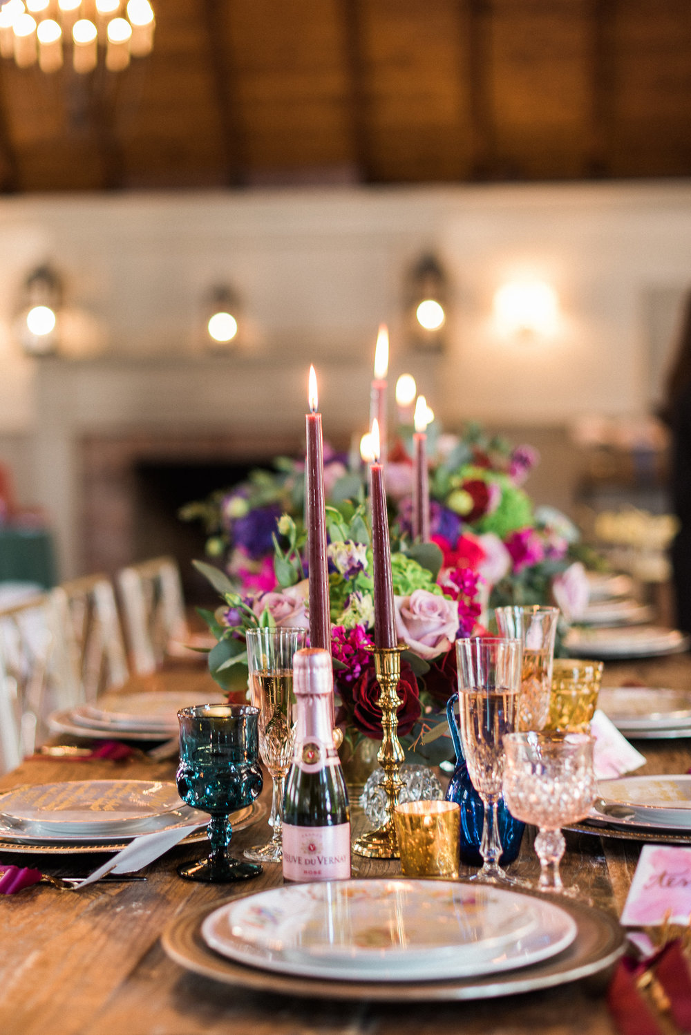 Event Styling by Eventful Days | Vintage tableware by Early Bird Vintage | Flowers by Sugar Magnolias Flowers | Venue is the Old Field Club | Rosé courtesy of Allison Cohen/Opici Wines