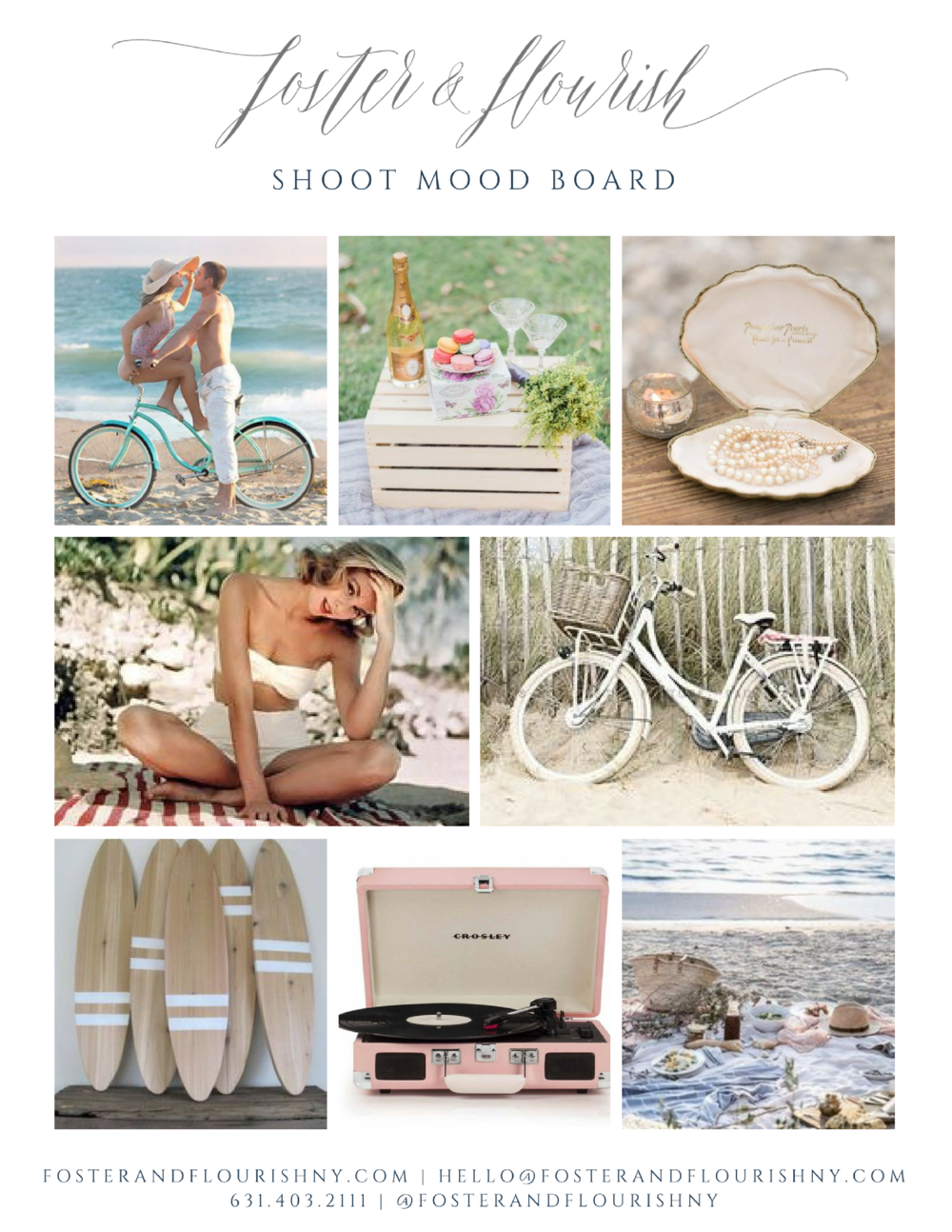 Shoot Mood board - our inspiration