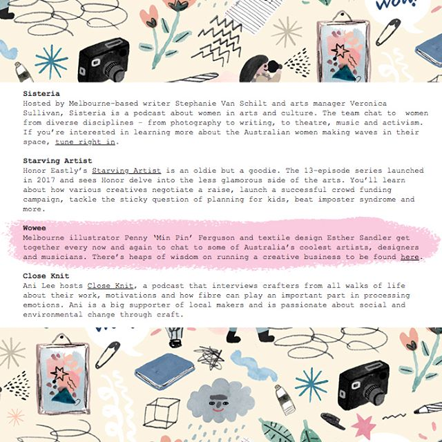 Talk about strange coincidences ✨ On the day we jumped back into the studio to record some new episodes we were delighted to find Wowee! has been recommended on a list of Podcasts for Creatives by our favourite @frankiemagazine !! Its such a delight to be mentioned among our other favourites like @sisteriapod @close_knit @starvingartistpod and @thedesignfiles plus many others! Thanks for your support Frankie! . . . #woweepodcast #wowee #podcast #melbournepodcast #melbournecreatives #podcastsforcreatives #chatting #conversation #worklifebalance