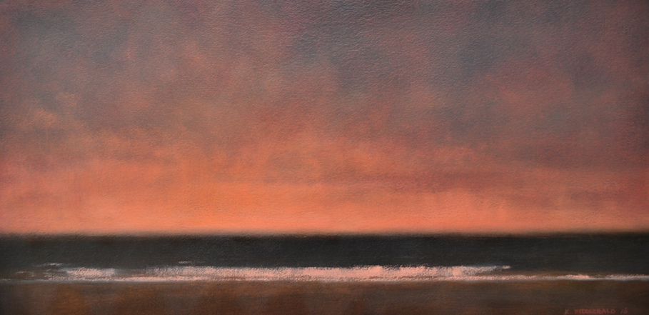 Ocean Sundown -  24 x 48 - Oil on Canvas