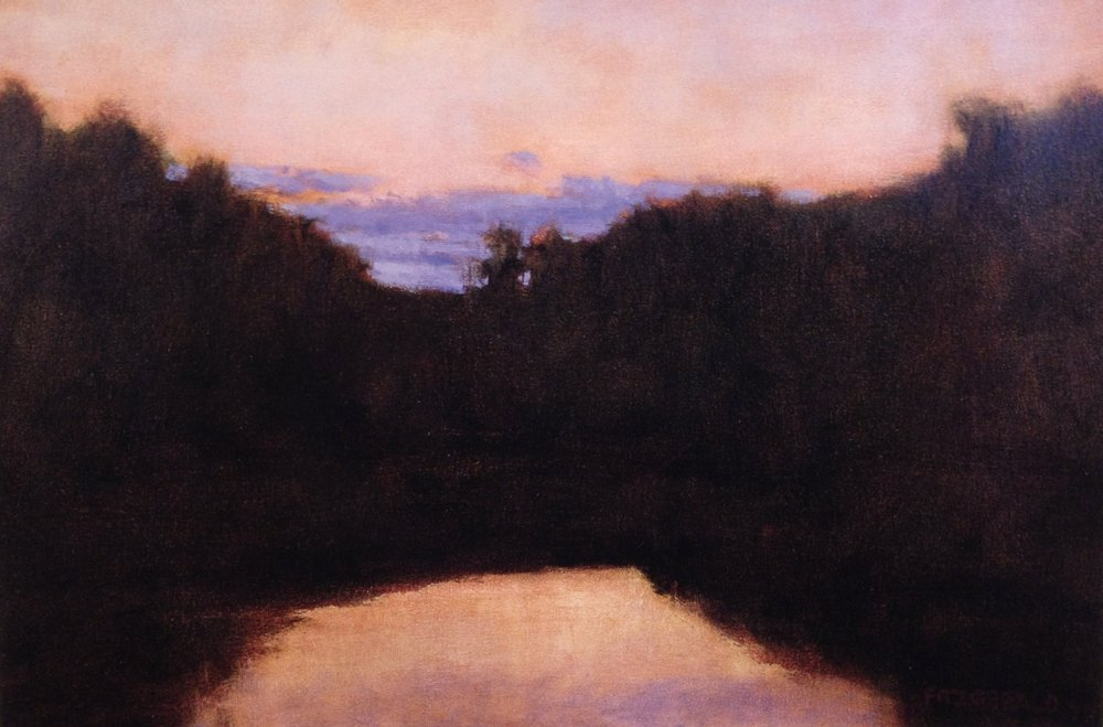 Pond Light  - 24 x 36 inches - Oil on Canvas - 1999. Collection of Denise Austin