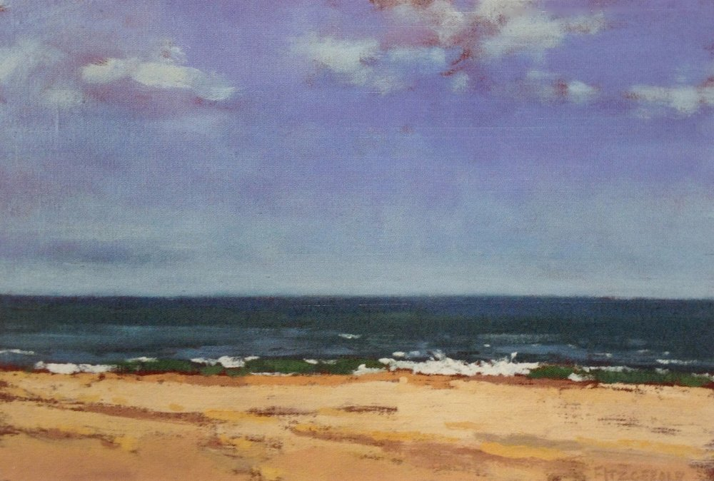 Ocean Light  - 8 x 12 inches - Oil on Wood - 2001. Private Collection